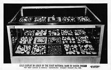 Real Photo Postcard Gold Display Lobby First National Bank Baker, Oregon~109951