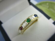 RING 750 Gold / Diamanten 0,60 ct.G/VVS / EDELSTEINE Gr.53 (16,8 mm)  5,0 Gramm