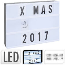 LED Lightbox Lichtbox A6 15x4x10cm 8 LEDs Leuchtkasten Lichtkasten 100 Zeichen