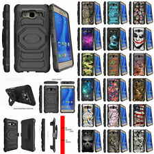 For Samsung Galaxy On5 Heavy Duty Holster Clip Hybrid Case Stand Unique Designs