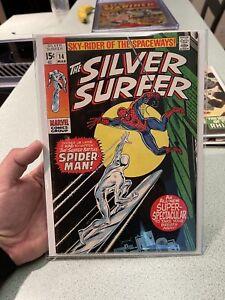 Silver Surfer #14 Spider-Man Crossover Mid-Grade