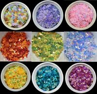 100 Oval 19MM x 12MM Loose Sequins Flat Sewing Costume 1365 31 COLOURS