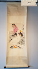 Fan had figures Antique Scroll