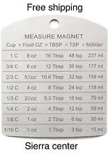 New RSVP Endurance Stainless Steel Measure Conversion Magnet