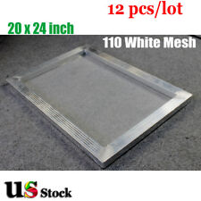 "12pcs * 20"" x 24"" Aluminum Screen Printing Frame with 110 White Mesh - USA Stock"