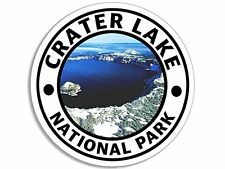 4x4 inch Round CRATER LAKE National Park Sticker -decal oregon hike travel rv or