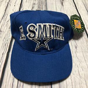 NOS Vintage Starter Wool Dallas Cowboys E Smith #22 Blue Snapback Hat