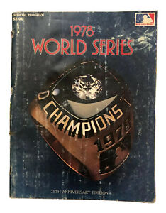 1978 World Series Program Los Angeles Dodgers New York Yankees Baseball Magazine