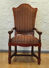 Antique Style Striped Armchairs