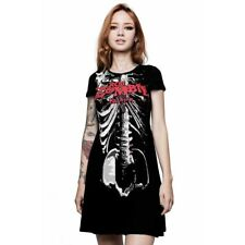 Killstar X Rob Zombie Gothic Punk Minikleid Skater Kleid - Foxy Bones Skelett