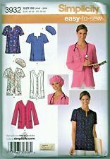 Scrubs Tops Hat Jacket Pattern Uncut Plus Size 20W-28W