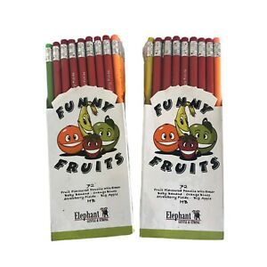 Funny Fruits Scented Eco Friendly Pencils German Tech-72 Per Box -Lot Of 2 Boxes