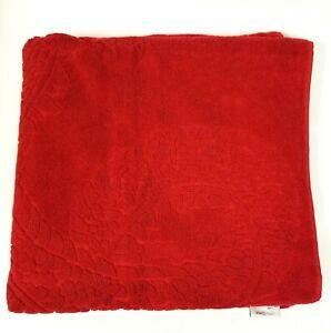 NEW NATORI IMPERIAL RED DRAGON EMBOSSED COTTON,BEACH, BATH TOWEL
