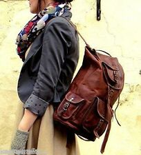 New Men's and Women's Genuine Leather Back Pack Rucksack Travel Bag and gym bag