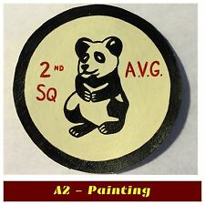 WW2 Hand Painted 2nd Persuit Sqd Flying Tigers Leather Patch A2 G1 Flying Jacket