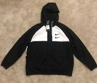 Nike Swoosh Woven Hooded Windbreaker Track Jacket Size XL NEW CJ4888-011
