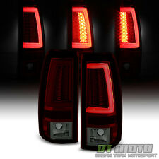 2003 2004 2005 2006 Chevy Silverado Red Smoke LED Tube Tail Lights Brake Lamps
