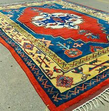 1900-1930s Antique 6x8ft Turkish Dowry Wool Pile Rug from Aksaray Valley Turkey