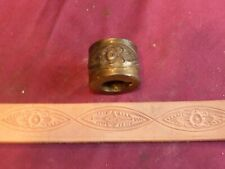 """Vintage Leather Tool - Embossing Roll Floral Pattern 1 1/2"""" Wide, 1"""" Shaft Size"""