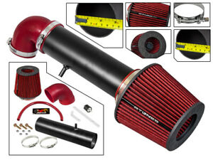 Short Ram Air Intake Kit MATT BLACK + RED for 97-04 Cherokee/Grand Cherokee 4.0L