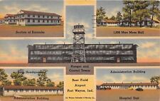 FORT WAYNE INDIANA BAER FIELD AIRPORT~5 IMAGES OF MILITARY BASE POSTCARD 1943