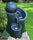 Indoor Outdoor Polyresin Water Fountain Feature Led Lights Ball Garden Statue