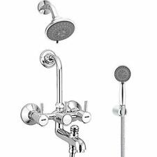 Brass 3-in-1 Wall Mixer With Overhead & Hand Shower Chrome