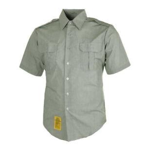XL NEW DSCP Green Garrison Short Sleeve Shirt Size:17(xl) 8405-01-374-8894