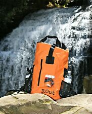 B.Out Backpack WATERPROOF ORANGE *Dry Bag* Boats Lakes Rivers Pools Beaches