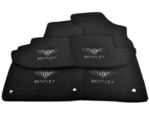 Floor Mats For Bentley Continental GT Bentley Emblem Tailored Black Carpets Set
