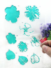 1 sheet Green flower leaves transparent Silicone Clear DIY stamper Scrapbooking