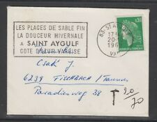 France 1969. Small cover to Germany. Postage due.