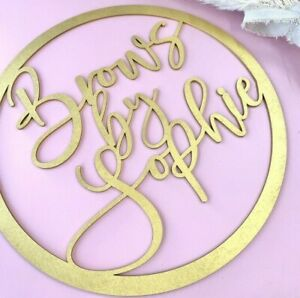 Name Personalised Wall Door Sign Circle Wood Laser Cut mdf Craft Blank Text