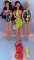 Vintage Mattel Barbie 1980s 3-doll lot - Tropical, Island