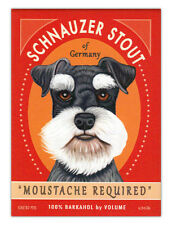 Retro Dogs Refrigerator Magnets - Schnauzer Stout - Vintage Advertising Art