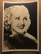 Betty Grable Very Early Rare Original Autographed Photo 30s How to Marry Mill