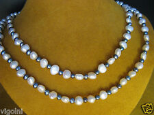 PEARL NECKLACE STRAND STRING BLACK WHITE BLUE 50 TOP GIFT HONORA Christmas