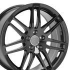 18x8 Rims Fit Audi RS4 Style Black Wheels ET42 5x112 SET