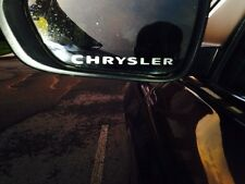 """2 Pack Chrysler Glass Etched Decals For Mirrors- Decals Are 5"""" Wide"""