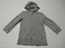 Aeropostale Jr Womens Size M Grey Pink Stars Hoodie Sweatshirt Great Condition