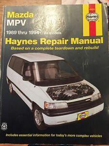Mazda MPV Haynes Repair Manual 1989 Thru 1994 All Models