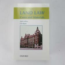Land Law: Cases & Materials by E. H. Burn - 8th Edition - Good 2004 Paperback