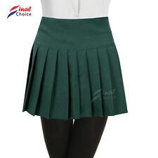Womens Ladies Young Adults Girls Pleated Back Zip School Uniform Britney Skirt ■