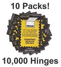 Supersafe Prefolded Stamp Hinges 10 Packs New Lot 10000 Hinges Best Deal New