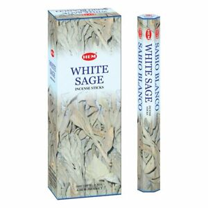 Hem Incense Sticks White Sage Bulk 120 Stick for Cleansing Spiritual Blessings