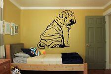 Wall Room Decor Art Vinyl Sticker Mural Decal Dog Animal Shar Pei Puppy FI126