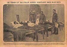 Tsar Nicholas II of Russia & Grand Duchess Olga Nikolaevna Red Cross  WWI 1915