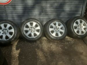 "4x 18"" Original Audi Q7 4L V12 Tdi alloy wheels 4L0601025E  MATCHING GOODYEARS"