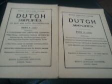 LOT OF 2 DUTCH SIMPLIFIED Hugo Simplified System Easy Rapid Self Instructor 40's