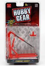 New! Hobby Gear: Craftmaster Engine Hoist 1/24 Scale for Diecast Toys (Red)